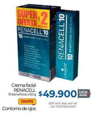 Oferta de Crema facial Renacell por $49900