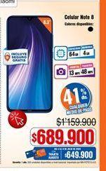 Oferta de Celulares Xiaomi por $689900