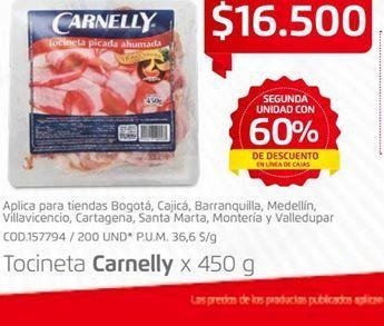 Oferta de Tocinetas Carnelly por $16500
