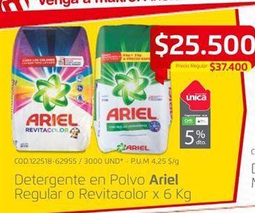 Oferta de Detergente en polvo Ariel por $25500