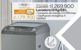 Oferta de Lavadora carga superior Haceb por $1269900