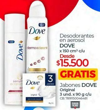 Oferta de Desodorante Dove por $15500