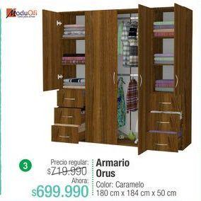 Oferta de Armario ropero ModuOfi por $699990