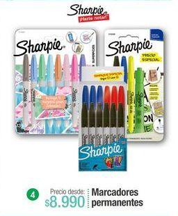Oferta de Marcadores permanentes Sharpie por $8990