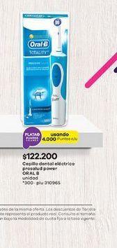 Oferta de Cepillo de dientes eléctrico Oral B por $122200