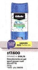 Oferta de Desodorante Gillette por $17600