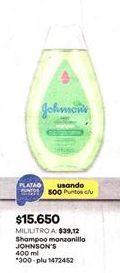 Oferta de Shampoo para bebé Johnson's por $15650