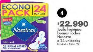 Oferta de Toallas higiénicas Nosotras por $22990