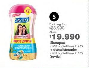 Oferta de Shampoo Savital por $19990