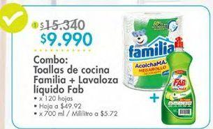 Oferta de Toalla de cocina Familia por $9990