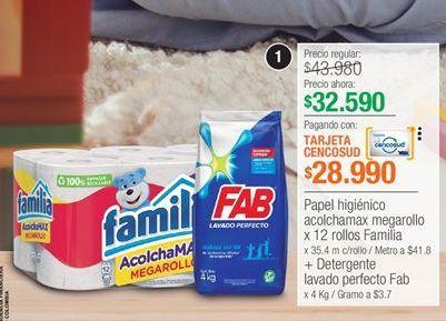 Oferta de Papel higiénico Familia por $32590