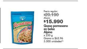 Oferta de Queso parmesano Alpina por $15990