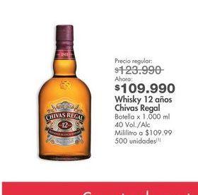 Oferta de Whisky escocés Chivas Regal por $109990