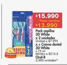 Oferta de Cepillo de dientes Oral B por $15990