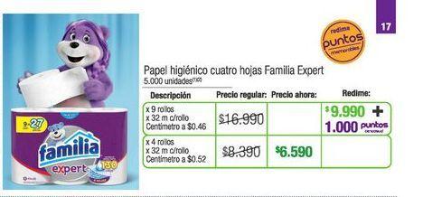Oferta de Papel higiénico Familia por $6590