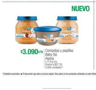 Oferta de Compota para bebés Alpina por $3090