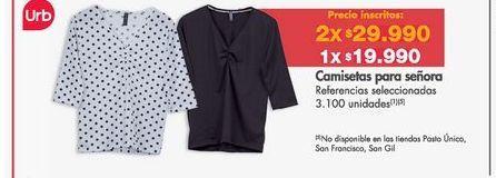 Oferta de Camiseta mujer Urb por $19990