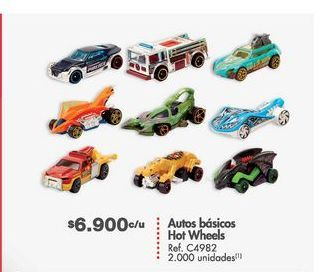 Oferta de Carro de juguete Hot Wheels por $6900
