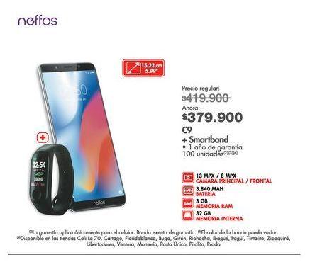 Oferta de Celulares Neffos por $379900