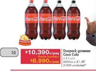 Oferta de Coca-Cola por $8990