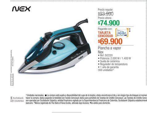 Oferta de Plancha Nex por $69900