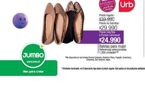 Oferta de Baletas mujer por $24990