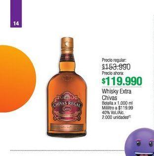 Oferta de Whisky escocés Chivas Regal por $119990