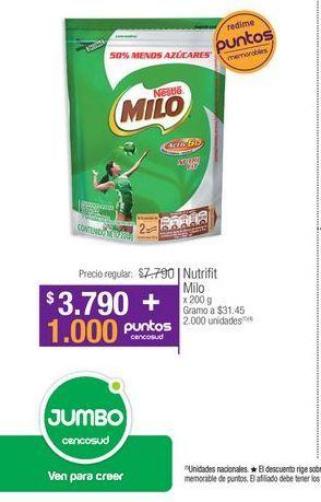 Oferta de Suplementos alimenticios Milo por $3790