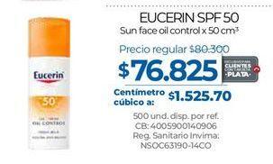 Oferta de Crema protectora solar Eucerin por $76825
