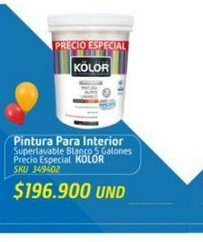 Oferta de Pintura interior Kolor por $196900