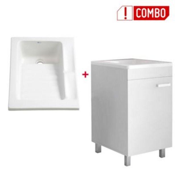 Oferta de Combo Mueble Lavadero Valento 85x448x59 cm + Lavarropas Eco 48x60 cms por $462800