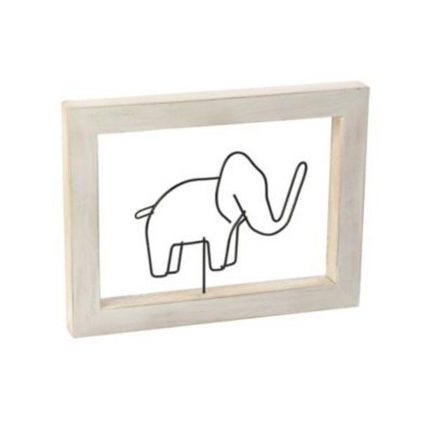 Oferta de Cuadro Decorativo Figura 30x18 cm Elefante por $39900