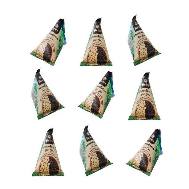 Oferta de Chocolates Britt combo Piramides chocolate blanco relleno cafe x 9 unid por $39990