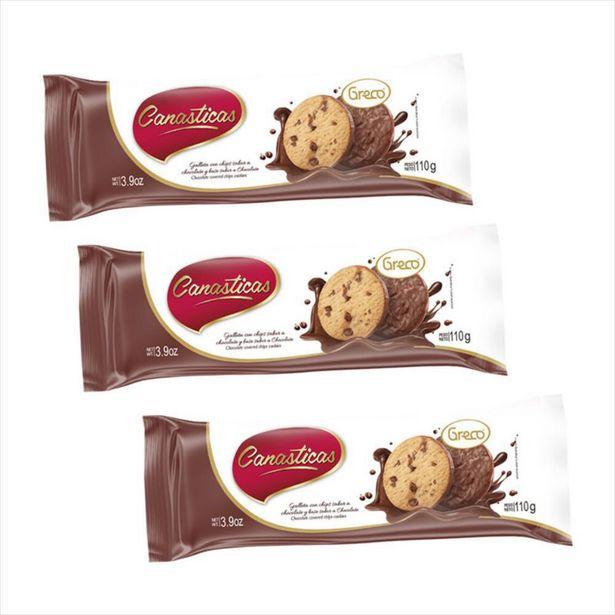 Oferta de Combo Canasticas Chocobase Chips Chocolate por $8000