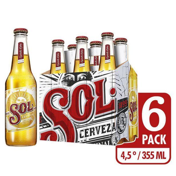 Oferta de Cerveza Importada Mexicana Sol  Sixpack x 6 unds (Lata x 355 ml c.u) por $15862