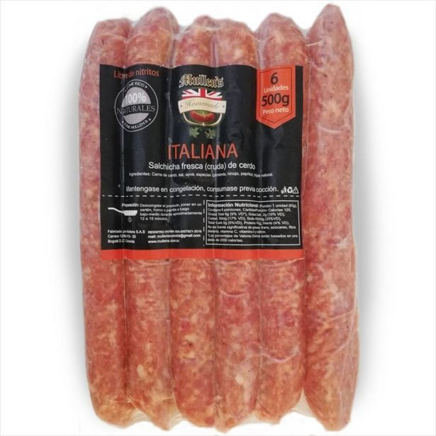 Oferta de Mullens Homemade Salchicha Artesanal Italiana -  Solo Bogotá por $22900