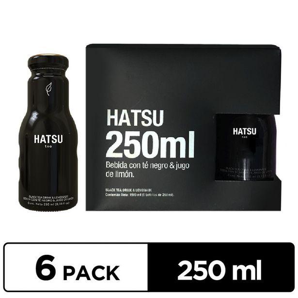 Oferta de Té Hatsu Negro SixPack x 250 ml por $12075