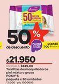 Oferta de Toallitas desmaquilladoras Pomys por $21950