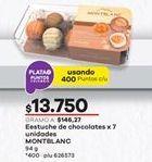 Oferta de Chocolate Montblanc por $13750