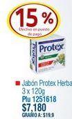 Oferta de Jabón de tocador Protex por $7180