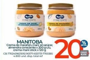 Oferta de Mantequilla de maní Manitoba por
