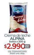 Oferta de Crema de leche Alpina por $2990