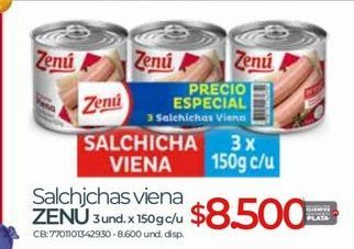 Oferta de Salchichas Zenú por $8500
