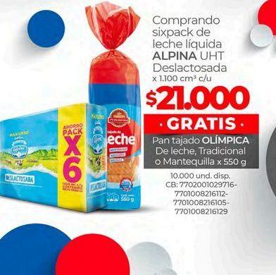 Oferta de Pan tajado Olimpica por $21000