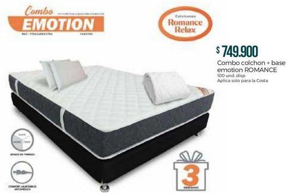 Oferta de Colchón Romance Relax por $749900