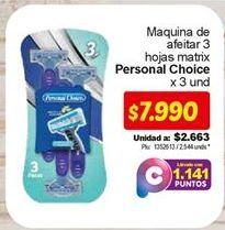 Oferta de Máquina de afeitar Personal Choice por $7990