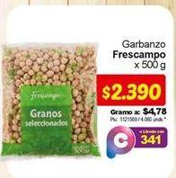 Oferta de Garbanzos frescampo por $2390