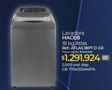 Oferta de Lavadora carga superior Haceb por $1921924