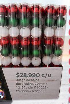 Oferta de Bolas árbol de Navidad por $28990