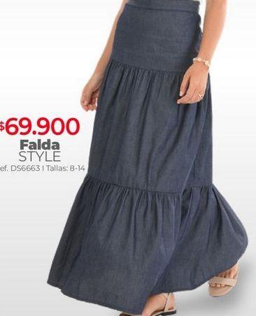 Oferta de Falda larga por $69900